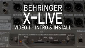 <b>Behringer</b> X-LIVE <b>Плата расширения</b> для цифровых микшерных ...
