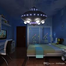 ufo aircraft chandelier boy child childrens room lamps bedroom lamps creative cartoon kids room lighting children bedroom lighting