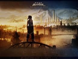 Avatar Korra Overlooking the Republic City