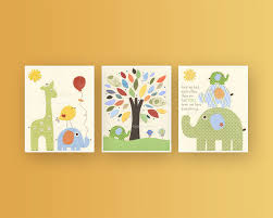 baby nursery decor for room popular items on etsy yellow background three picture frames cute design baby nursery cool bee animal