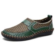 <b>IZZUMI</b> Men's <b>Summer</b> Breathable <b>Mesh</b> Casual Lazy Shoes - Army ...