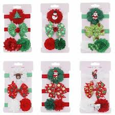 3pcs card christmas hair clips set for girls red green barrettes santa claus hairgrips hairpin kids party accessories