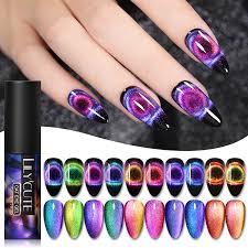 <b>LILYCUTE</b> 9D <b>Starry Sky Magnetic</b> Nail Gel Purple Blue Chameleon ...
