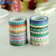 AAGU 30PCS Colorful <b>Glitter Washi Tape 10PCS</b> Solid Color 20 ...
