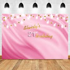 <b>NeoBack Happy</b> 21th <b>Birthday</b> Party Photo Background Pink Shiny ...