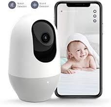 Nooie Baby Monitor, WiFi Pet Camera Indoor, <b>360</b>-<b>degree Wireless</b> ...