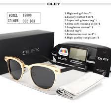 Y9800 C2 BOX <b>OLEY</b> Retro Round <b>Sunglasses</b> Men Brand ...
