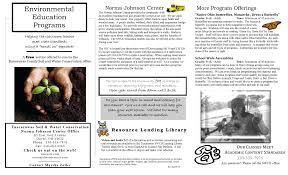 events norma johnson center education brochure 2015 for pdf set up