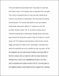 essay on edward scissorhands relationships i first saw edward this preview has intentionally blurred sections sign up to view the full version