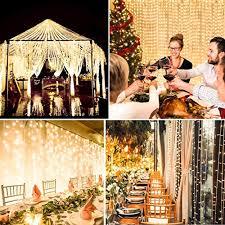 Kohree LED Curtain Lights, Hanging Wedding Light <b>Remote Control</b> ...