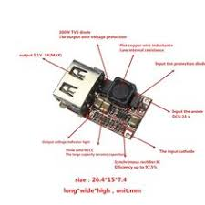 DC 6-24V <b>12V</b>/24v to 5V <b>USB</b> Output <b>Charger</b> Step Down Power ...