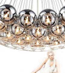 willlustr modern crystal ball lamps glass pendant light cluster hanging staircase lighting semi sliver glass multi banner5 stair lighting