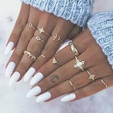 OLOEY <b>New</b> Charms Women Rings <b>Simple 10pcs</b>/<b>lot</b> Finger Jewelry ...