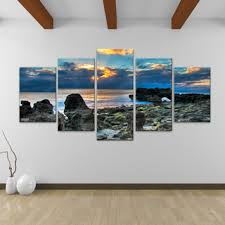 gallery of stunning painted 7 piece canvas wall art with amazing landscape and expensive materials for best durability and result best office art