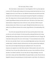 compare and contrast essay  the great gatsby   the great gatsby    compare and contrast essay  the great gatsby   the great gatsby  movie vs