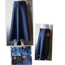 <b>Denim</b> maxi skirt maong long skirt Korea <b>fashion</b> dress ₱249 24