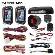 EASYGUARD 2 Way Car Alarm System big <b>LCD</b> Pager Display auto ...