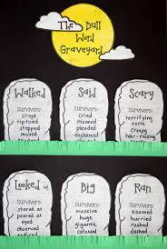 best ideas about descriptive words vocabulary word choice halloween craftivity the dull word graveyard halloween classroom activitieshalloween writing