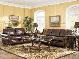 room sofa set buy furniture  leather couch palmer walnut living room sofas set by ashley furniture