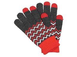 <b>Теплые перчатки для сенсорных</b> дисплеев Territory р.UNI Red ...