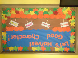 let s harvest good character fall bulletin board for the front let s harvest good character fall bulletin board for the front