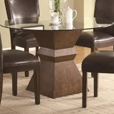 elegant square black mahogany dining table: fabulous square wooden brown pedestal table base ideas