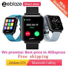 Value King <b>Zeblaze GTS Smart watch</b> Receive/Make Call Heart ...
