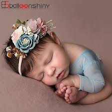 Baby Girls <b>Artificial</b> Flower Headband Elastic Nylon Ribbon ...