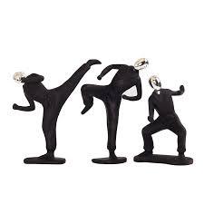 Creative Resin Taekwondo Black Man Figurines Miniatures <b>Home</b> ...