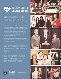 temple fox peer advisors the diamond award is the highest recognition by student affairs given to a temple university undergraduate student this recognition is based on a holistic