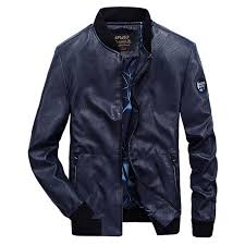 <b>2019</b> Brand New Mens <b>Leather</b> Jacket Male <b>PU</b> Coat <b>Military</b> Stand ...