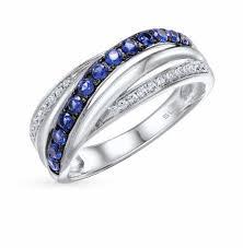 <b>Серебряные кольца с синим</b> камнем — купить недорого в ...