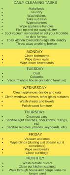 best ideas about daily cleaning checklist house get into a good routine of cleaning this daily