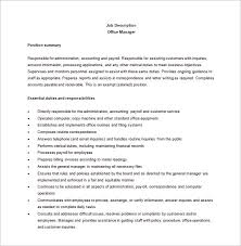 11+ Office Manager Job Description Templates - Free Sample ... Office Manager Job Description Word Format Free Download