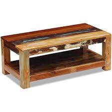 <b>Solid Reclaimed</b> Wood Festnight Rectangular <b>Coffee Table</b> Wooden ...