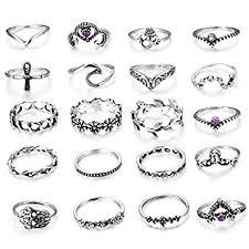 LOLIAS 20 Pcs Vintage Knuckle Ring Set for Women ... - Amazon.com