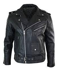 Infinty <b>Mens Cow</b> Hide Original <b>Cross</b> Zip Brando Biker Motorcycle ...