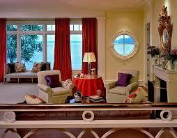 purple and orange decor