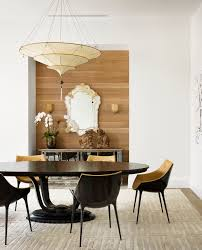 Dining Room Feature Wall Gorgeous Mirrored Sideboard In Dining Room Contemporary With Wood