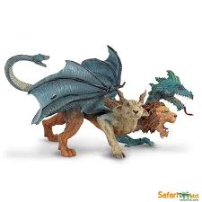 Safari Ltd.<b>3pcs</b> Heads Lion Dragon Sheep Chimera With Small Mini ...