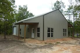 One Man         This Awesome x Metal Pole Barn Home       A simple exterior of the metal pole barn home