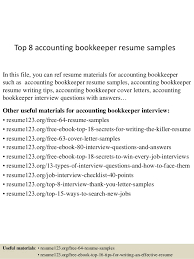 top  accounting bookkeeper resume samplestop  accounting bookkeeper resume samples in this file  you can ref resume materials for