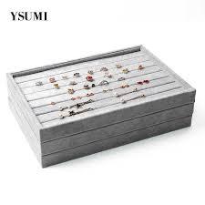 <b>YSUMI</b> 24 Grids Velvet Rose Red <b>Jewelry</b> Box Ring Earring <b>Jewelry</b> ...