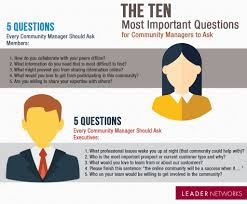 the 10 most important questions for community managers to ask 10 questions every community manager should ask