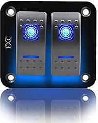 FXC <b>Rocker Switch Aluminum Panel</b> 2 Gang <b>Toggle Switches</b> Dash ...