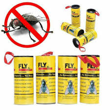<b>20 Rolls Fly</b> Paper Strong <b>Sticky</b> Glue Insect Bug Catcher <b>Roll</b> Tape ...