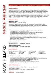 medical assistant resume samples template examples cv cover letter job description hospital medical assistant resume samples