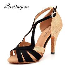 Ladingwu 2018 New Brand Black/Golden <b>Women's</b> Dance shoes ...