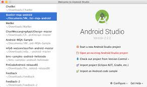 build a voice enabled chatbot in minutes using watson java and alternatively from the welcome screen click open an existing android studio project