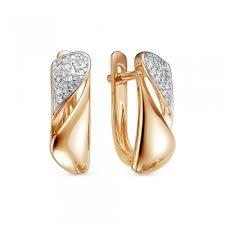 <b>Серьги с 36</b> бриллиантами из красного золота 82213 купить ...